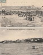 QUERQUEVILLE - 2 CPA : Batterie De Forteresse - La Plage Et Les Chalets - France