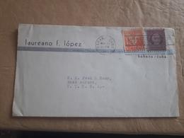 Cuba Enveloppe Adressée Aux États-Unis 1942 - Cuba