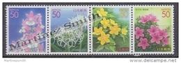 Japan - Japon 2005 Yvert 3663-66, Flora, Flowers Of Tokyo -  MNH - 1989-... Imperatore Akihito (Periodo Heisei)