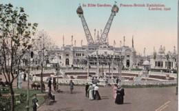 AO86 In Elite Gardens, Franco British Exhibition, London, 1908 - RPPC - Exhibitions