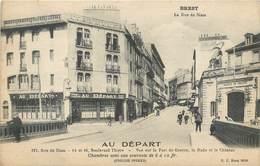 CPA 29 Finistère Brest Hotel Au Départ 127 Rue De Siam Boulevard Thiers Cachet Syndicat D'Initiative Nord Finistere - Brest