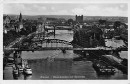 Cartolina Bremen Weserbrucken Mit Kasermen 1938 - Cartoline