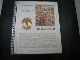 """BELG.1979 BL54 Filatelic Gold Card FR. : """" MILLENAIRE DE BRUXELLES """" - 1971-80"""