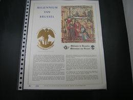 "BELG.1979 BL54 Filatelic Gold Card NL. : "" MILLENIUM VAN BRUSSEL "" - 1971-80"