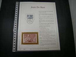 """BELG.1985 2169 Filatelic Gold Card FR. : """" JEAN BAST """" - 1981-90"""