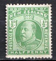 OCEANIE - Nelle ZELANDE - (Colonie Britannique) - 1909-10 - N° 135 - 1/2 P. Vert - (Edouard VII) - 1855-1907 Crown Colony