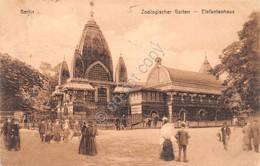 Cartolina Berlin Zoologischer Garten Elefantenhaus 1912 - Cartoline