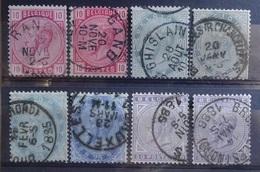 BELGIE   1883       Nr. 38 - 41   Met Kleurnuances      Gestempeld    CW  221,00 - 1883 Léopold II