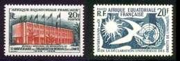 AEF 1958 Yvert 242 - 245 ** TB Coin De Feuille - Nuevos