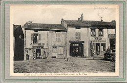CPA - SAINT-JULIEN-sur-SURAN (39) - Aspect De La Poste Et De L'atelier Du Charron-Forgeron - Années 30 - Altri Comuni