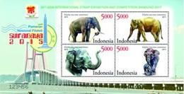 Ref #640Indonesia 2015 National Stamp Exhibition SURABAYA 2015 - Indonesia