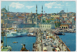ISTAMBUL  VE  GUZELLIKLERI   GALATA   KOPRUSU             (VIAGGIATA) - Turchia