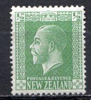 OCEANIE - Nelle ZELANDE - (Colonie Britannique) - 1915-21 - N° 163 - 1/2 P. Vert-jaune - (George V) - 1855-1907 Kronenkolonie