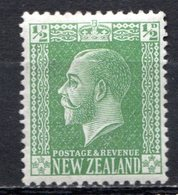OCEANIE - Nelle ZELANDE - (Colonie Britannique) - 1915-21 - N° 163 - 1/2 P. Vert-jaune - (George V) - 1855-1907 Crown Colony