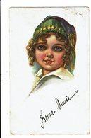 CPA - Carte Postale Belgique-Bonne Année-Dessin De La Tête Dune Fillette -1928 VM4855 - Nouvel An