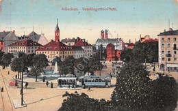 Cartolina Munchen Sendlingertor Platz 1912 - Cartoline