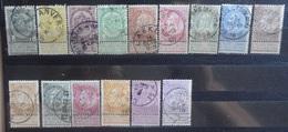 BELGIE   1893       Nr. 53 - 67   Gestempeld    CW  140,00 - 1893-1900 Fine Barbe