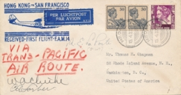 Nederlands Indië - 1937 - Indische Post Met PAA Clipper Vlucht Van Medan Naar Washington / USA - Niederländisch-Indien