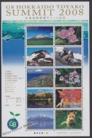 Japan - Japon 2008 Yvert 4374-83, G8 Summit Toyako, Hokkaido -  MNH - 1989-... Empereur Akihito (Ere Heisei)
