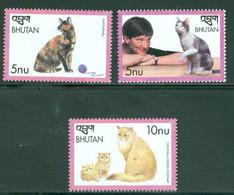 Bhutan 1250-1252 Cats, Neuf** Sans Charniere - Bhutan