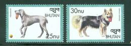 Bhutan 1255-1256 Dogs, Neuf** Sans Charniere - Bhutan