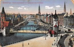 Cartolina Hamburg Wandrahmsbrucke Am Zollkanal 1914 - Cartoline
