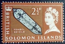 Salomon Solomon 1965 Bouclier Shield Yvert 114 ** MNH - Salomonen (...-1978)