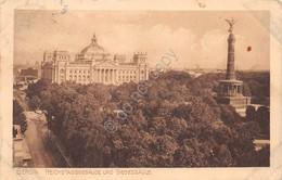 Cartolina Berlin Reichstagsgebaude Und Siegessaule 1912 - Cartoline