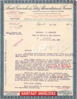 25-0018   1927 SOCIETE GENERALE DES PATES ALIMENTAIRES DE FRANCE A LYON - M. SARRAZIN A PONS - France