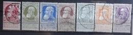 BELGIE   1905    Nr.  74 - 80   (2)  Gestempeld    CW  45,00 - 1905 Grosse Barbe