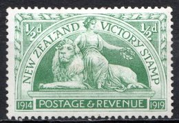 OCEANIE - Nelle ZELANDE - (Colonie Britannique) - 1919 - N° 169 - 1/2 P. Vert-jaune - (Allégorie De La Paix) - 1855-1907 Crown Colony