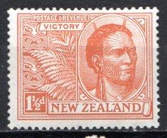 OCEANIE - Nelle ZELANDE - (Colonie Britannique) - 1919 - N° 171 - 1 1/2 P. Orange - (Chef Maori) - Neufs