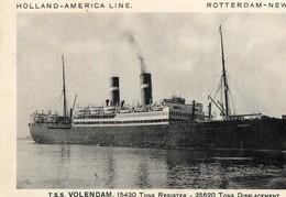 VOLENDAM - HOLLAND AMERICA LINE ( Rotterdam - New York ) - Dampfer