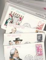 France Lot 59 FDC  Entre 1980 Et 1989 Différentes Cachet Ou Illustration + 3 Autres Dates + 1 Double - FDC