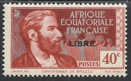 AFRIQUE EQUATORIALE FRANCAISE - AEF - A.E.F. - 1940 - YT 105** - A.E.F. (1936-1958)