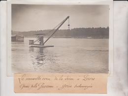 CRUE SEINE PARIS QUAI GARENNE  INONDATION 1910 18*13CM Maurice-Louis BRANGER PARÍS (1874-1950) - Lugares