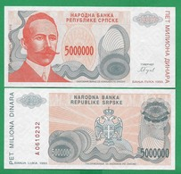 BOSNIA - 5000 DINARA - 1993 -  UNC - Bosnië En Herzegovina