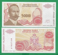 BOSNIA – 50 000 DINARA - 1993 -  UNC - Bosnië En Herzegovina