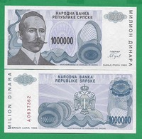 BOSNIA – 1 000 000 DINARA - 1993 -  UNC - Bosnia Erzegovina