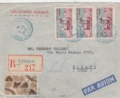 Cotes Des Somalis Lettre Recommandée Pour L'Italie 1949 - Lettres & Documents