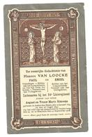 Doodsprentje Gebr. Van Loocke 24e Linieregiment St-Maria-Aalter + Stadenberg Merkem 1918 - Santini