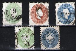 Austria Nº 18, 20/1, 28, 30. Año 1861/63 - 1850-1918 Imperium