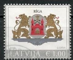 Lettonie - Lettland - Latvia 2019 Y&T N°(4) - Michel N°(?) (o) - 1€ Armoirie De Riga - Lettland