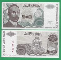 BOSNIA – 500 000 000 DINARA - 1993 -  UNC - Bosnië En Herzegovina