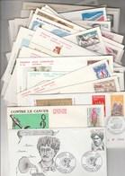 France Lot 41 FDC  Entre 1970 Et 1979 Différentes Cachet Ou Illustration + 3 De 1990 - FDC