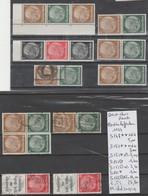 TIMBRE D ALLEMAGNE COMPOSEE NEUF**/ *OBLITEREES  1933 /45 Nr VOIR SUR PAPIER AVEC TIMBRES  COTE 28.80  € - Allemagne