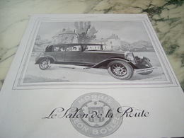 ANCIENNE PUBLICITE VOITURE MORRIS LEON BOLLEE UN SALON DE LA ROUTE 1929 - Publicités