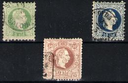 Levante Austriaco Nº 2,4 Y 7. Año 1867 - 1850-1918 Imperium