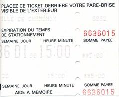 Frankreich Chamonix Parkticket 1998 Auto - Sonstige