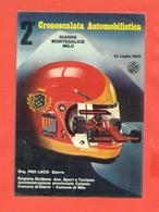 AUTOMOBILISMO  - RALLY - CRONOSCALATA GIARRE -MONTESALICE - MILO  - 1980 - - Rally's